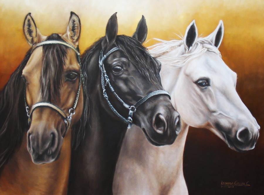 Bienvenidos al nuevo foro de apoyo a Noe #285 / 09.09.15 ~ 12.09.15 - Página 5 Pintura-caballos