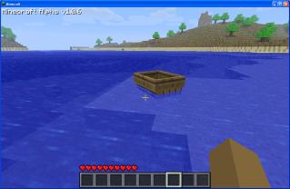 Cuanto se puede hacer en un mundo pixelado? Bote_Minecraft
