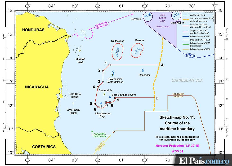 Colombia y Nicaragua: otro litigio en torno a las aguas de San Andrés y Providencia. 17162-12