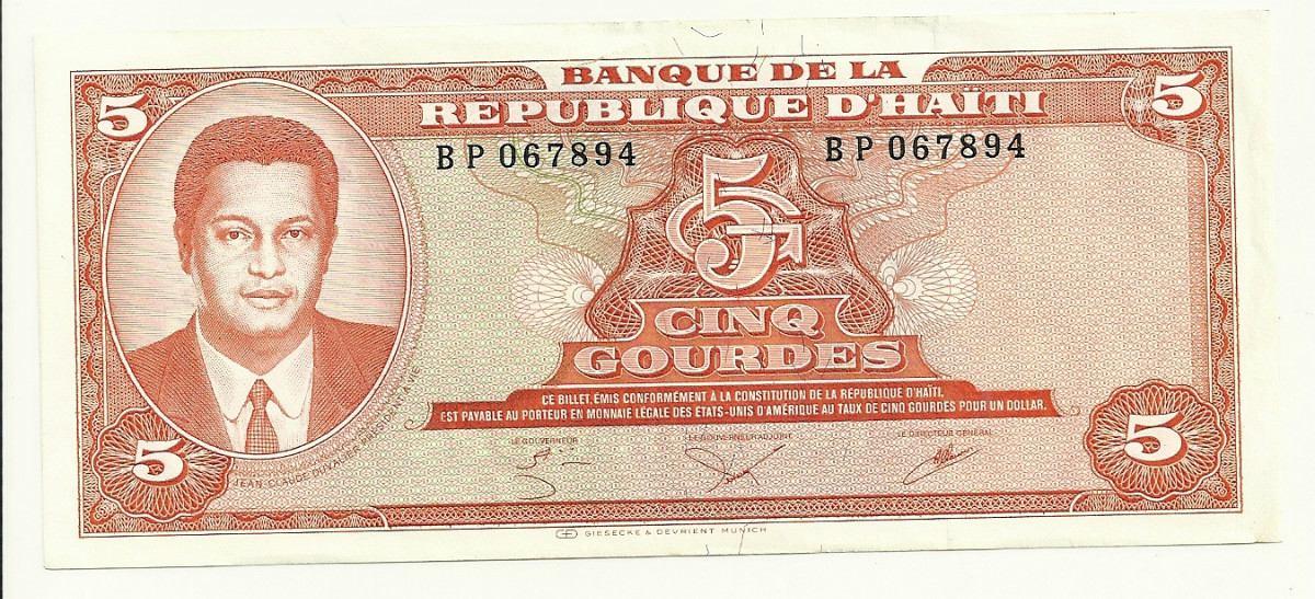 Tag lafalaciadeldia en La Ruta del Escarabajo Billete-haiti-5-gourdes-1979-jean-claude-duvalier