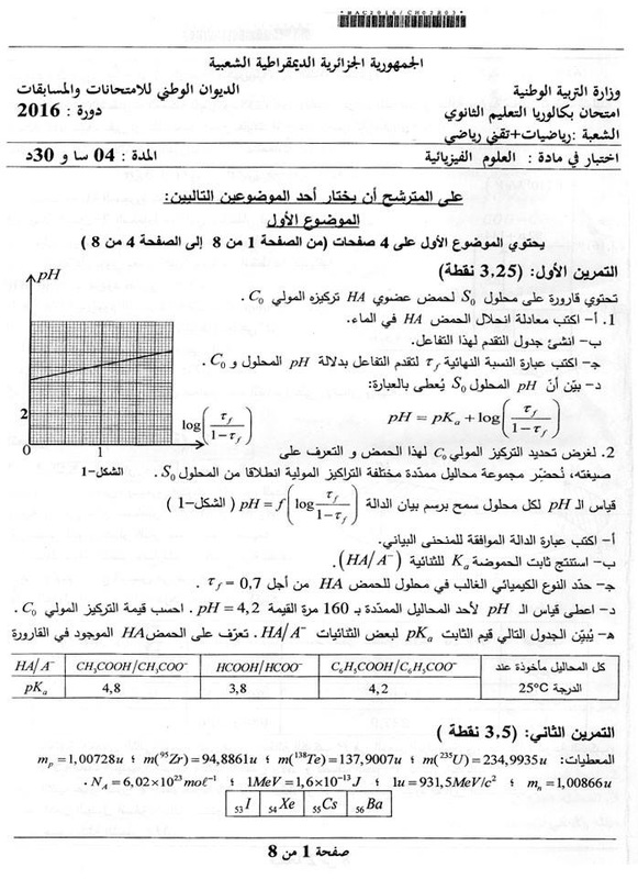 شهادة البكالوريا 2016 المواضيع و التصحيحات شعبة الرياضيات 1660917_orig