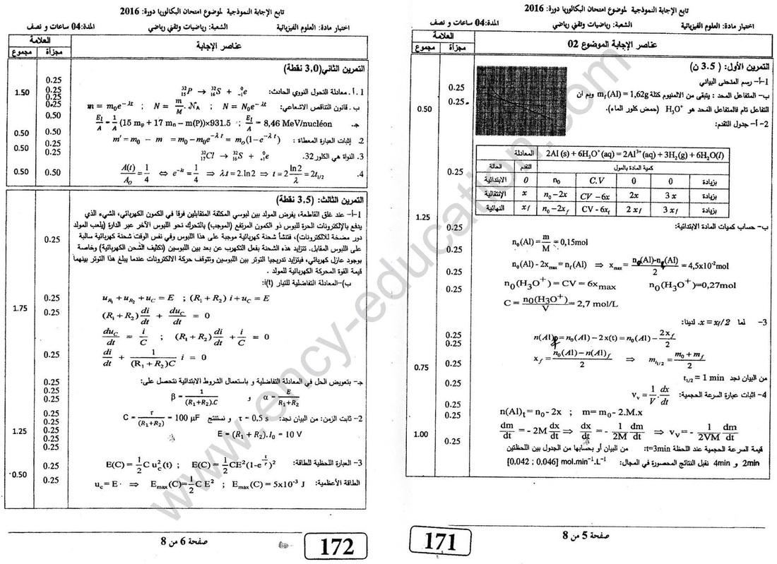 شهادة البكالوريا 2016 المواضيع و التصحيحات شعبة الرياضيات 3678544_orig