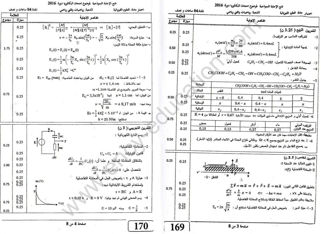 شهادة البكالوريا 2016 المواضيع و التصحيحات شعبة الرياضيات 7988448_orig