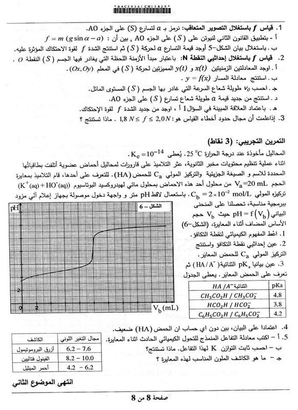 شهادة البكالوريا 2016 المواضيع و التصحيحات شعبة الرياضيات 867739_orig