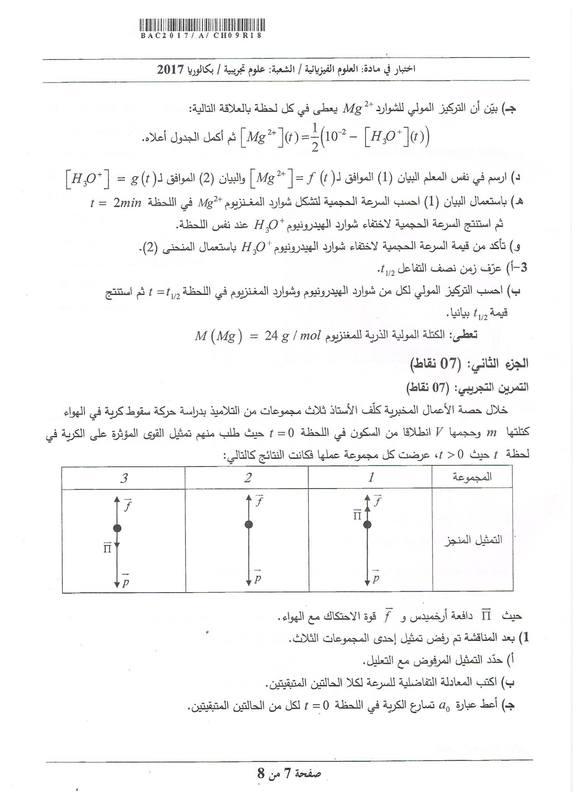 شهادة البكالوريا 2016 المواضيع و التصحيحات شعبة الرياضيات Physics-se-bac2017-page-7_orig