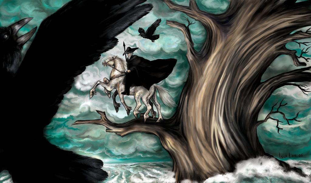 Руны как опора для намерения Odin_on_sleipnir_by_iscalox
