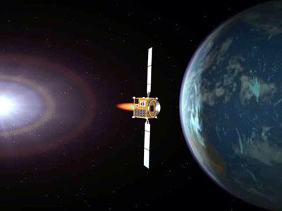 Contre la menace des asteroides 1_earth_flyby_L