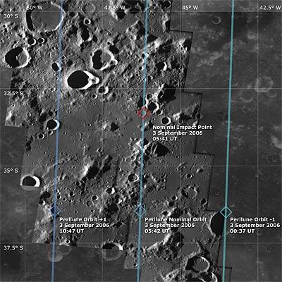 Impacto na Lua. Smart-1_Impact-Area_2_L