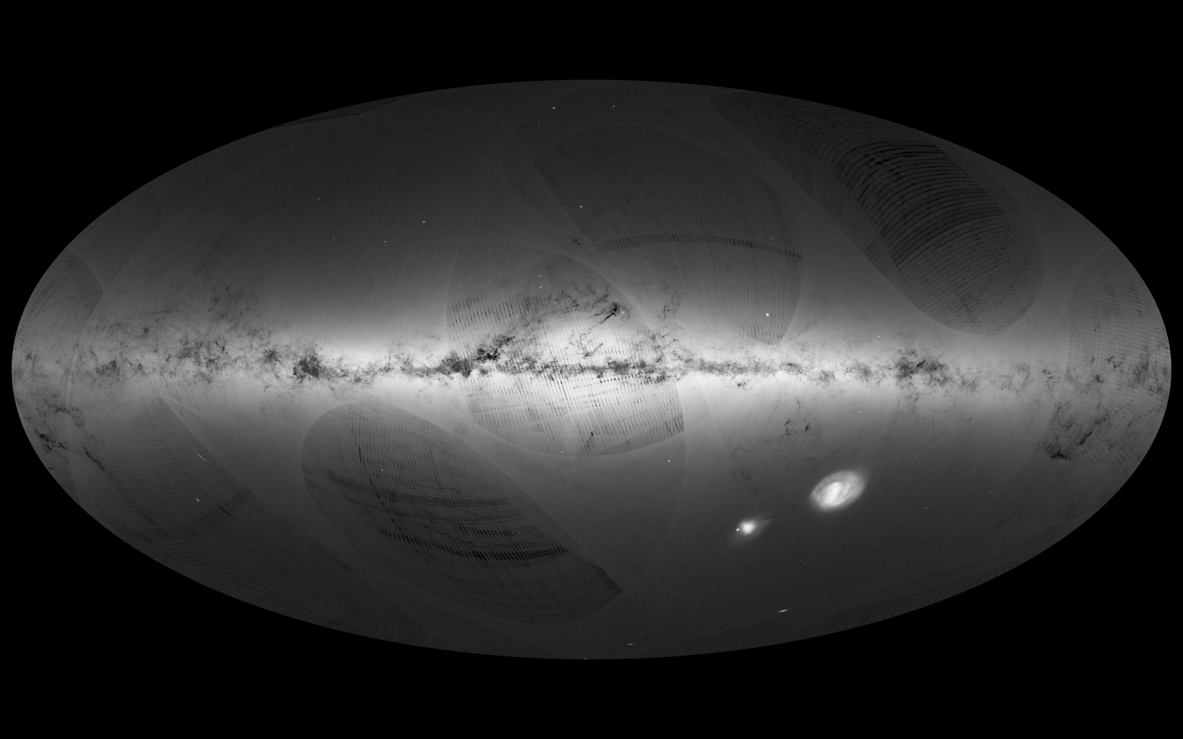 Comment la sonde Gaia va-t-elle révolutionner l'astronomie ? Gaia_s_first_sky_map