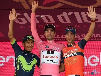 ¿Cuánto mide Nairo Quintana? - Altura - Real height Giro_italia_podio_final_2017_sirotti