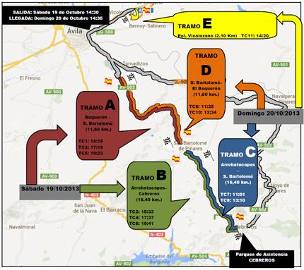 [CASTILLA Y LEÓN] XX Rallye Diputación de Ávila - Trofeo Automoviles Cervera [19-20 Octubre] Xx_ravila_mapa