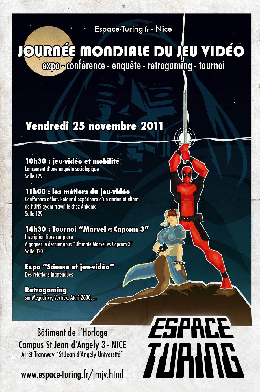 25/11/11 : Journée mondiale du jeu-video à l'Espace-Turing Tounoi
