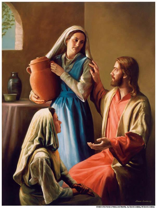 Jésus avait de vrais amis lorsqu'Il vivait sur cette Terre... Mara-Marta-Jesus-Mormon1