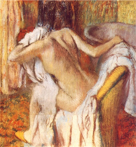 [HDA] motif de la baigneuse Degas-baigneuse