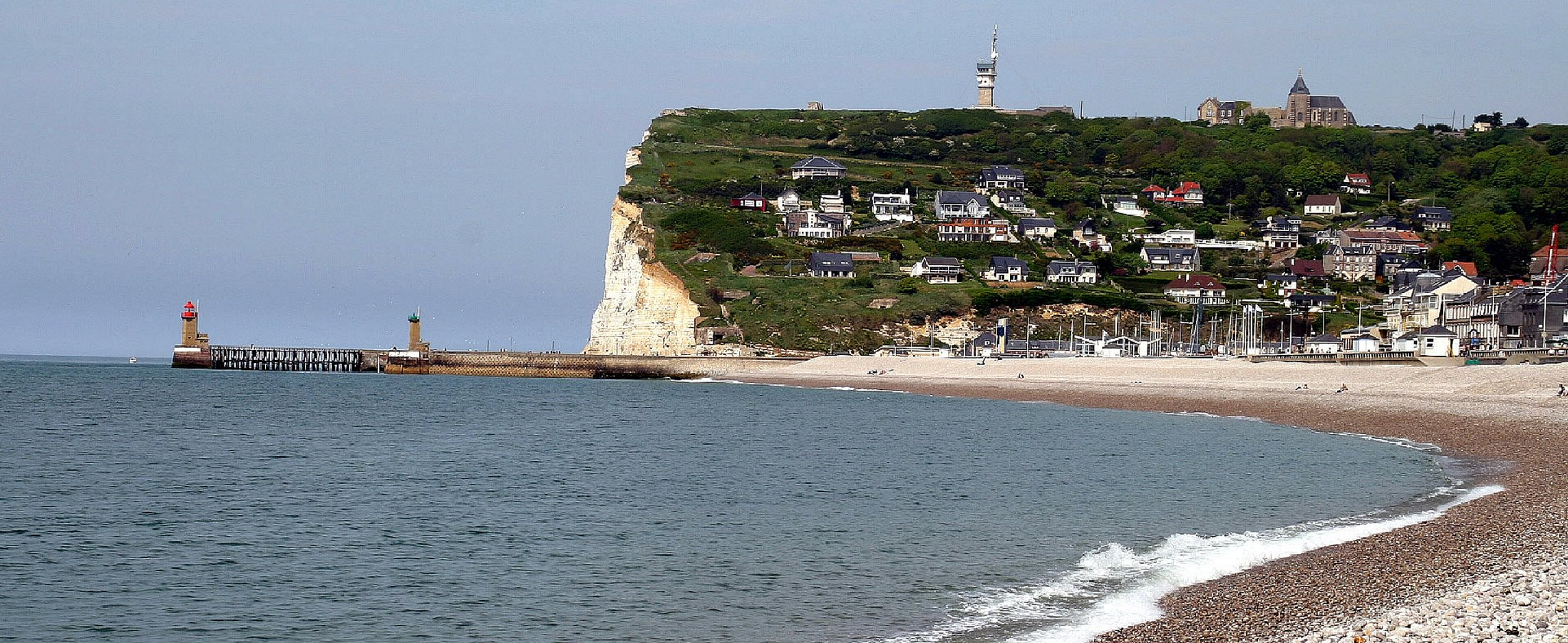 Fécamp et sa plage Fecamp_(Normandie)_Steilkueste