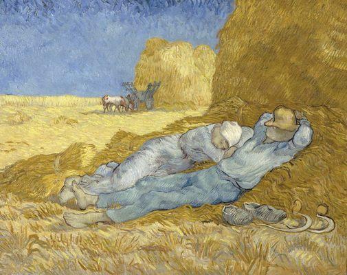 """ La Vie de Peintres Célèbres en Vidéo "" Vincent-van-gogh-sieste"