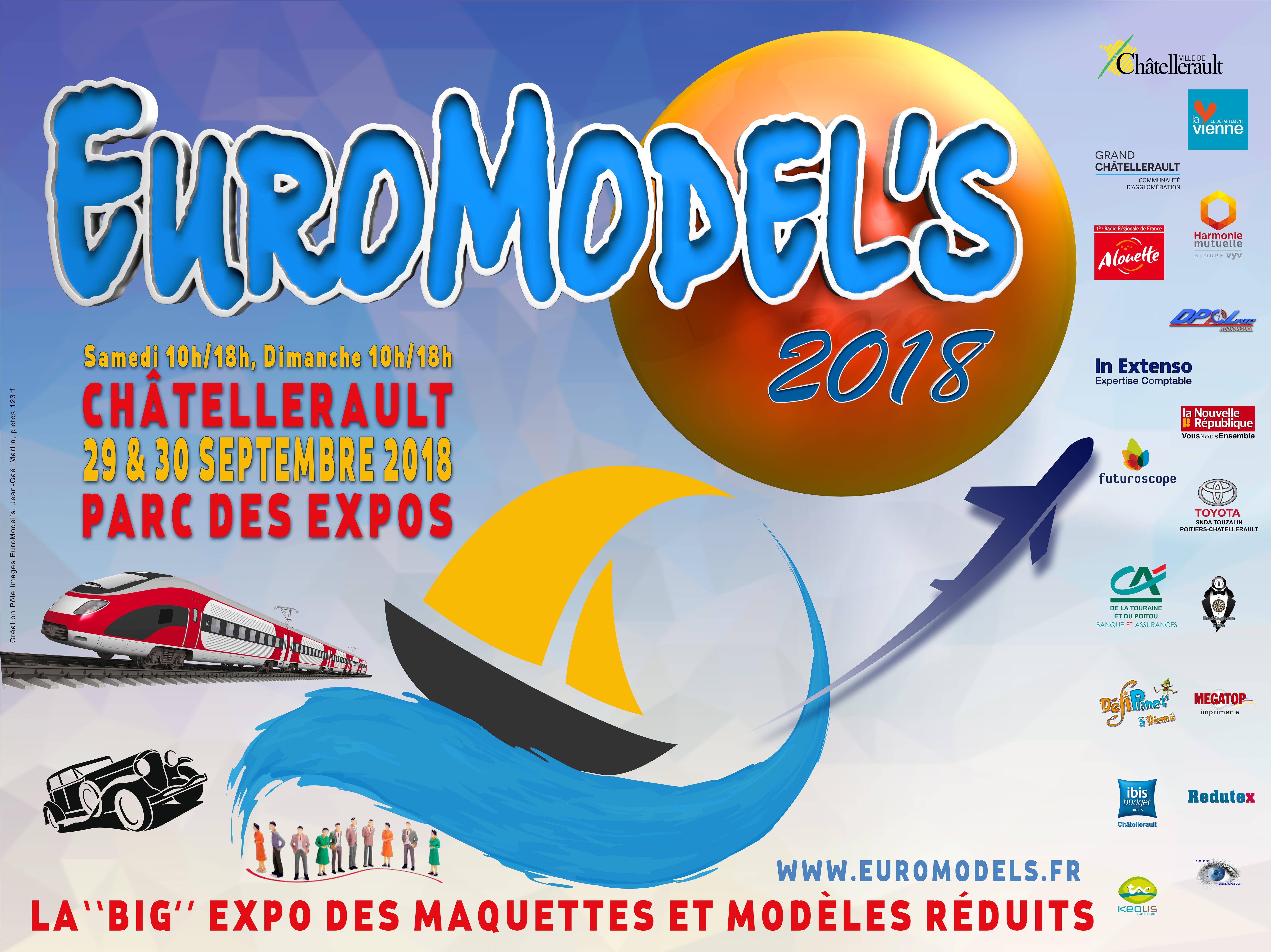 Euromodels 2018 Chatellerault Affiche2018
