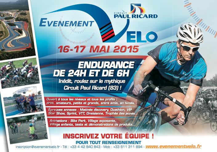 EvenementVelo les 16 et 17 mai 2015 au Circuit Paul Ricard (83) EvenementVelo