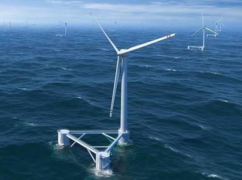 Energía. Las fuentes renovables.Ya superan al carbón. Turbinas-e-licas-flotantes-el-ltimo-grito-para-lograr-energ-a-barata-del-mar-sin-necesidad-de-estropear-el-paisaje-500x372