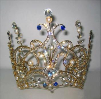 تيجان ملكية  امبراطورية فاخرة Gold_Leafy_Spray_Crown_wht