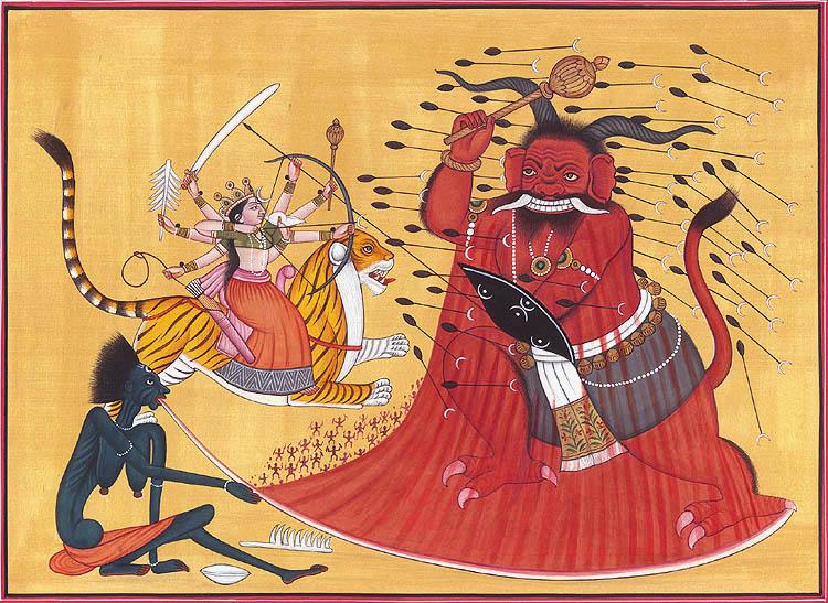 • Similitudes de dos contactados con ETs sobre el acercamiento a la Tierra de Hercólubus (Nibiru)... Annihilation_of_raktabija_by_goddess_durga_and_hh44
