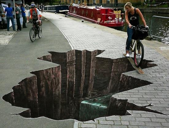 Les peinture 3d au sols  Street-art-3d-trou