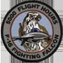 ترتيب الدول المالكة ل F-16 من حيث عدد الطيارين الذين تعدوااكثر من 1000 ساعة طيران 5kpatch