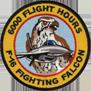 ترتيب الدول المالكة ل F-16 من حيث عدد الطيارين الذين تعدوااكثر من 1000 ساعة طيران 6kpatch
