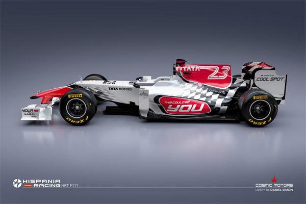 Hispania presenta por sorpresa su nuevo monoplaza para 2011, el F111 002_small