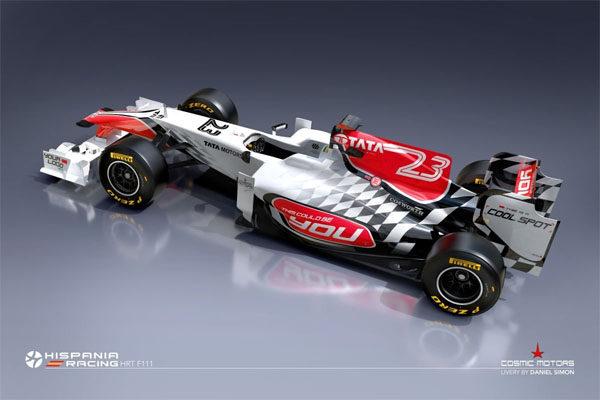 Hispania presenta por sorpresa su nuevo monoplaza para 2011, el F111 003_small