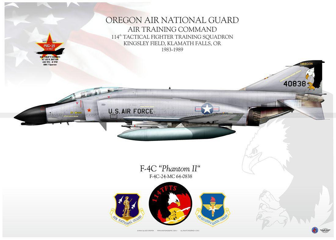 McDonnell Douglas F-4 Phantom IIN (interceptor y cazabombardero supersónico, biplaza, bimotor y de largo alcance USA) - Página 2 Litho-JP-1006_F-4C_OREGON_ANG