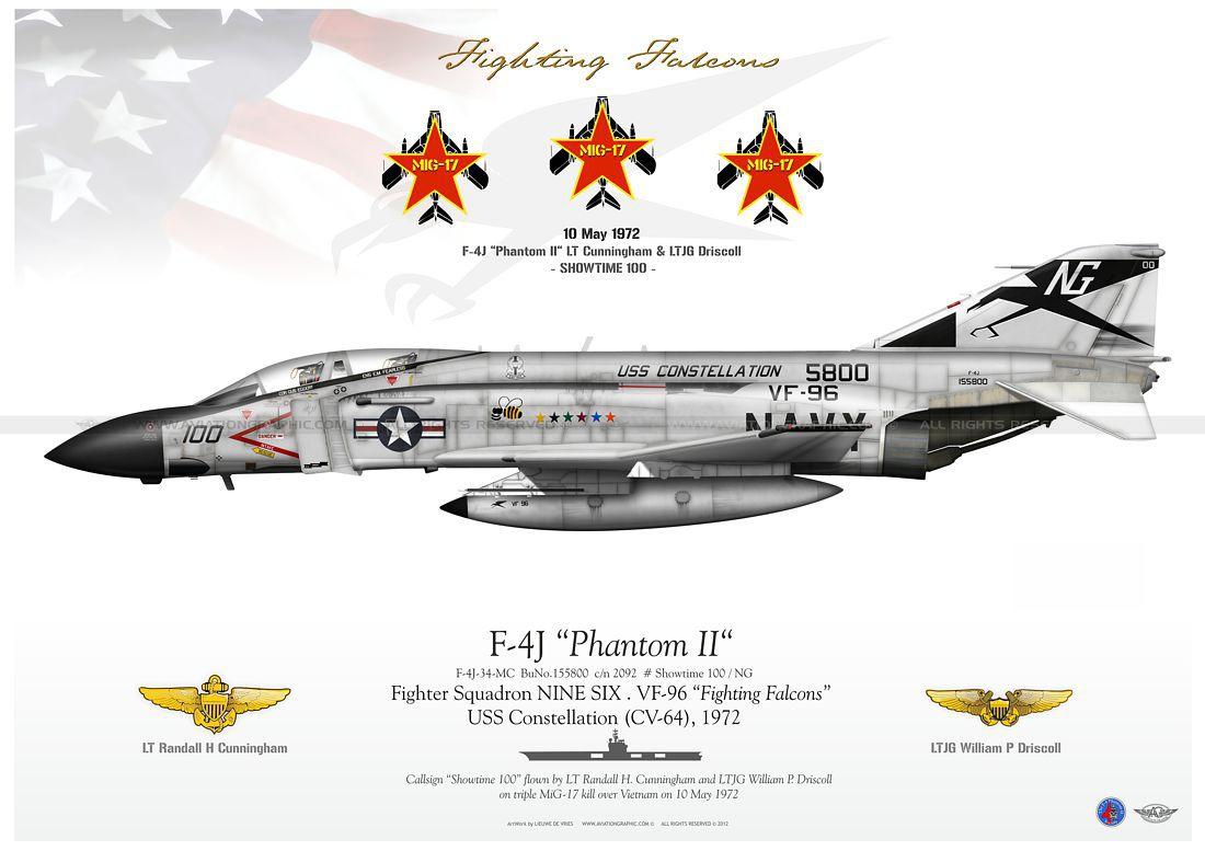 McDonnell Douglas F-4 Phantom IIN (interceptor y cazabombardero supersónico, biplaza, bimotor y de largo alcance USA) Litho-LW-08_F-4J_NG-A3