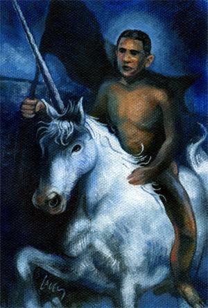 Art Inspired by Obama Unicorn