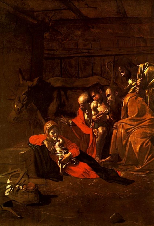 BUON NATALE Caravaggio_-_Adorazione_dei_pastori