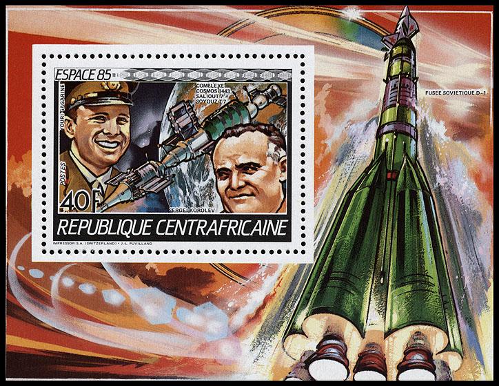 AstroPhilathélie - Page 8 Centralafrican_1985_space_mi_block_344a