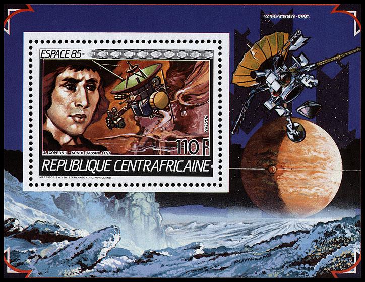 AstroPhilathélie - Page 8 Centralafrican_1985_space_mi_block_345a