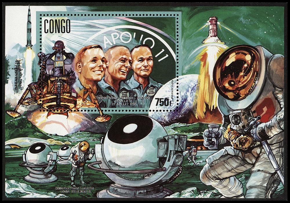 AstroPhilathélie - Page 8 Congo_1991_space_mi_block_69a