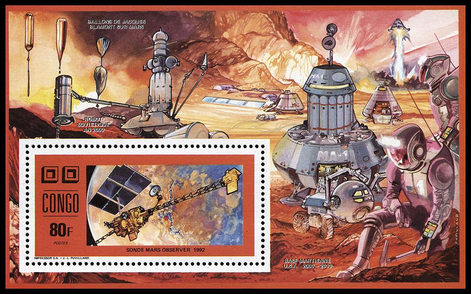 AstroPhilathélie - Page 8 Congo_1991_space_mi_block_73a