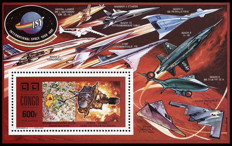 AstroPhilathélie - Page 8 Congo_1991_space_mi_block_75a