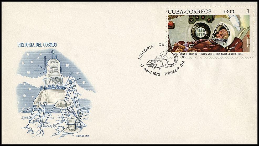 Astrophilatélie soviétique et pays de l'Est - Page 6 Cover_cuba_1972_1204_fdc_mi_1762