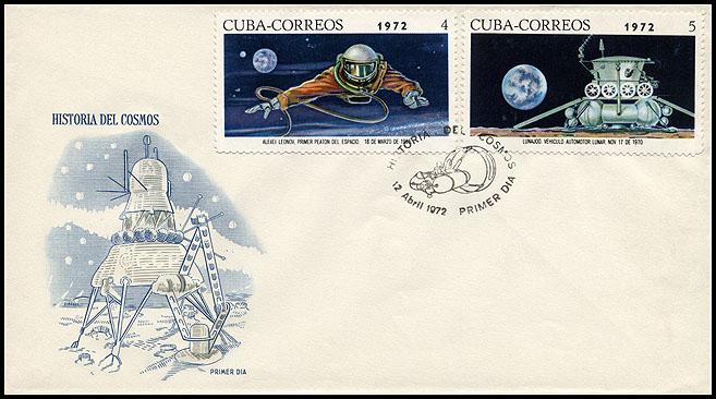 Astrophilatélie soviétique et pays de l'Est - Page 6 Cover_cuba_1972_1204_fdc_mi_1763_1764