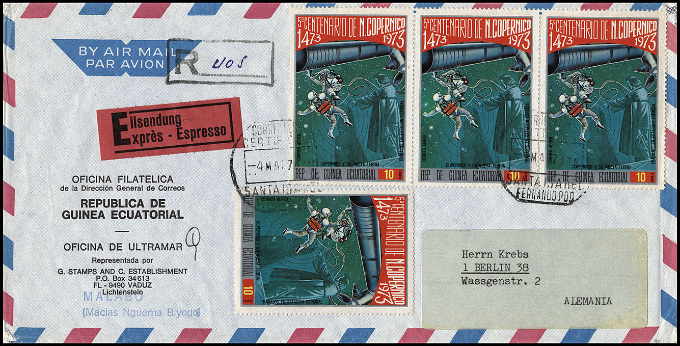 Timbres étranges Cover_guinea_ec_airmail_can_1974_03_04