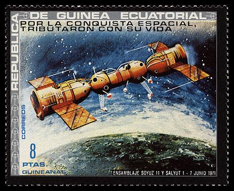 27 septembre 1973 / Lancement de Soyouz 12 Guinea_ec_1972_kosmonauts_mi_193