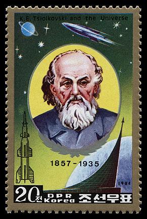 Astrophilatélie soviétique et pays de l'Est - Page 6 Korea_n_1984_tsiolkovsky_mi_2503a