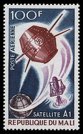 (Question) Existe-til un rapport entre l'espace et ce timbre? Mali_1967_satellites_mi_142