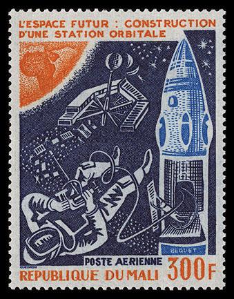AstroPhilathélie - Page 8 Mali_1976_futurespace_mi_530