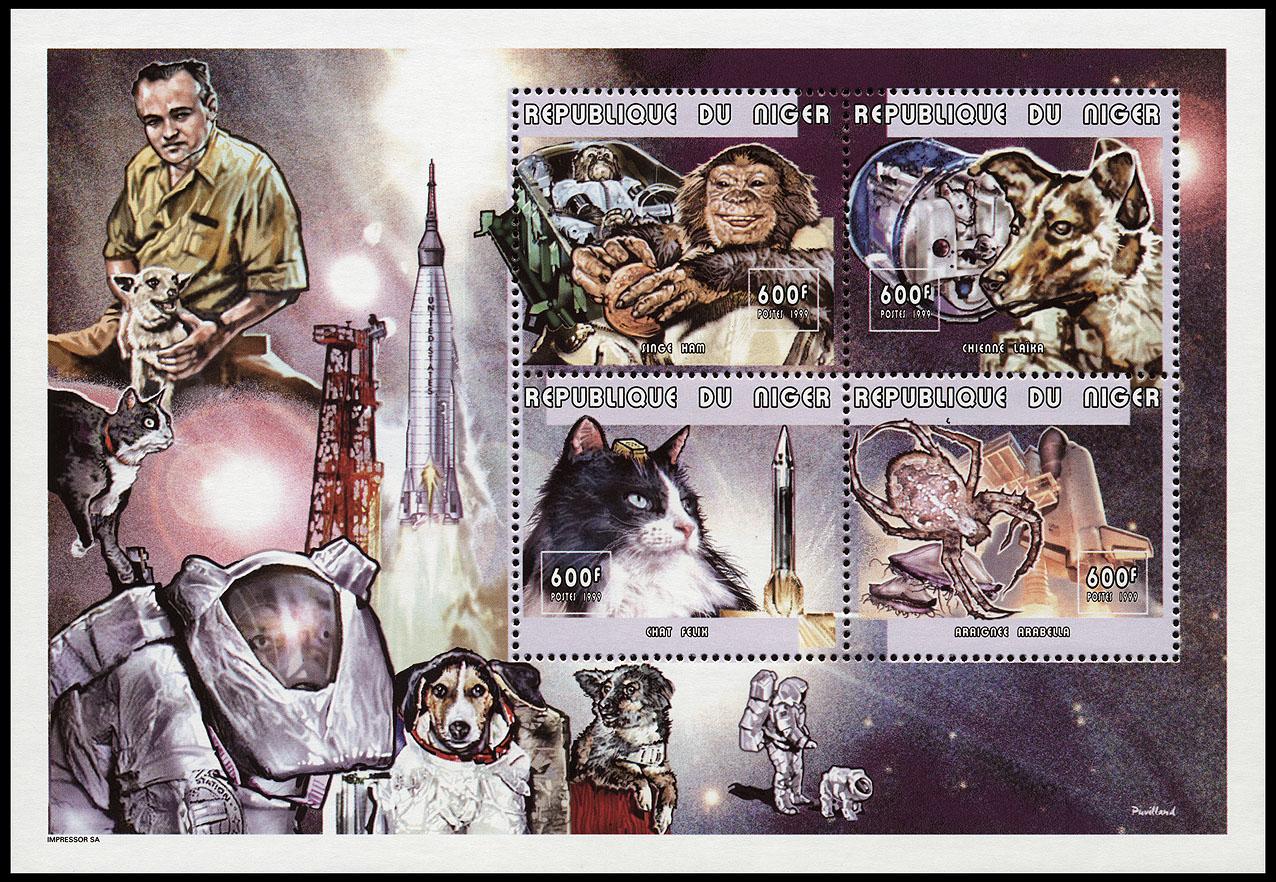 AstroPhilathélie - Page 8 Niger_1999_animals_mi_1725_1728