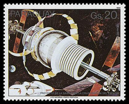 AstroPhilathélie - Page 8 Paraguay_1988_spacestations_mi_4203