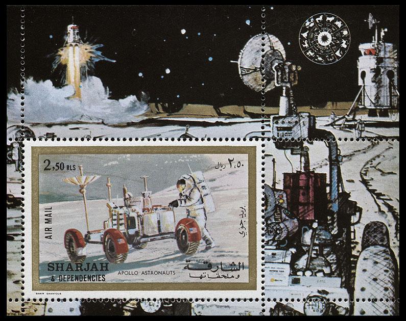 AstroPhilathélie - Page 8 Sharjah_1972_apollo_mi_block_111a