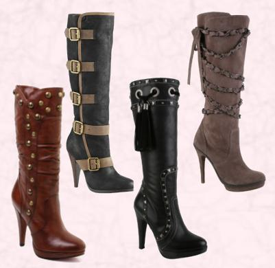 Sandale, cipele, čizme.. Buckle-stud-women-winter-boots